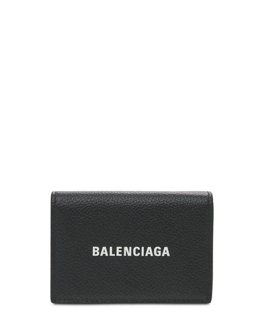 メンズ Balenciaga レザーウォレット Black