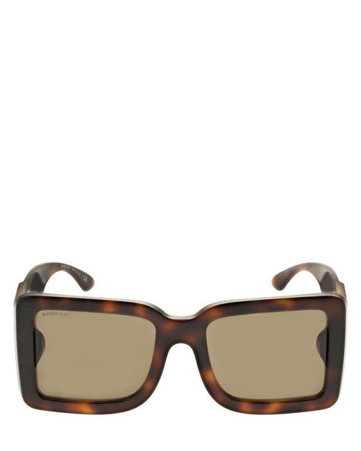 Burberry Brown Eckige Sonnenbrille Aus Acetat Mit Logo