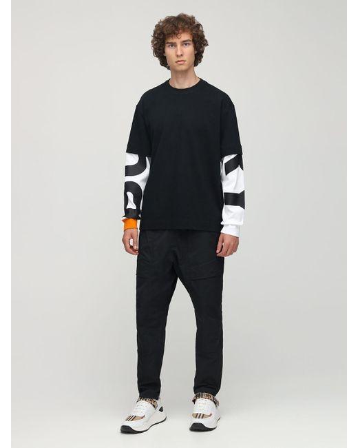 メンズ Burberry コットンジャージーtシャツ Black