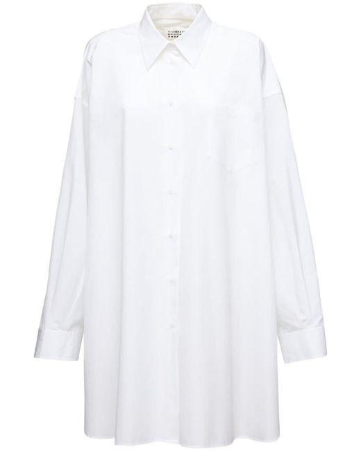 Maison Margiela コットンポプリンシャツドレス White