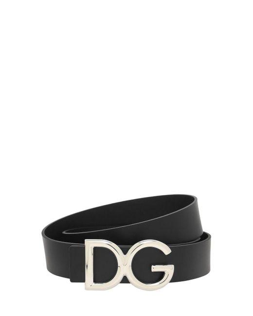 メンズ Dolce & Gabbana Dg レザーベルト 35mm Black