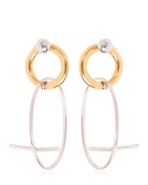 Alexander Wang | Metallic Cross Earrings | Lyst
