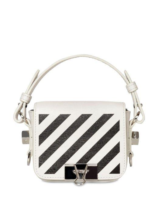 Кожаная Сумка С Принтом Off-White c/o Virgil Abloh, цвет: White