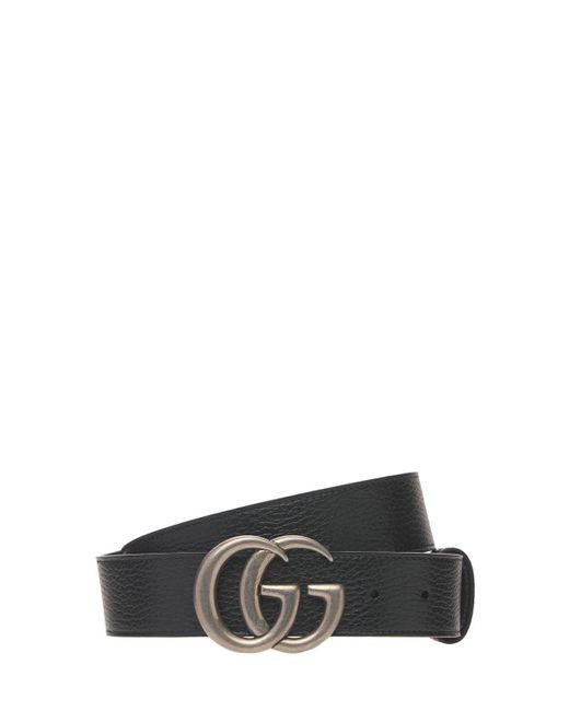 メンズ Gucci Gg Marmont リバーシブルベルト 4cm Black