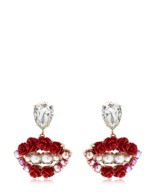 """Bijoux De Famille - Multicolor Orecchini """"lips Blossom"""" - Lyst"""