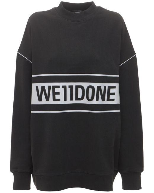 we11done ロゴスウェットシャツ Black
