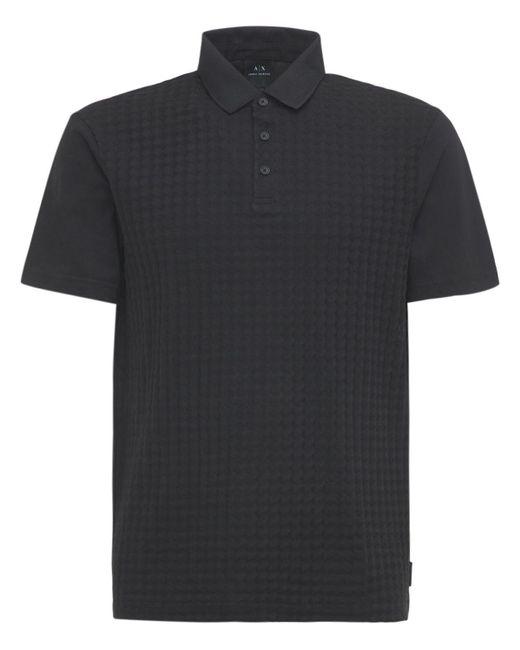 メンズ Armani Exchange コットンポロシャツ Black