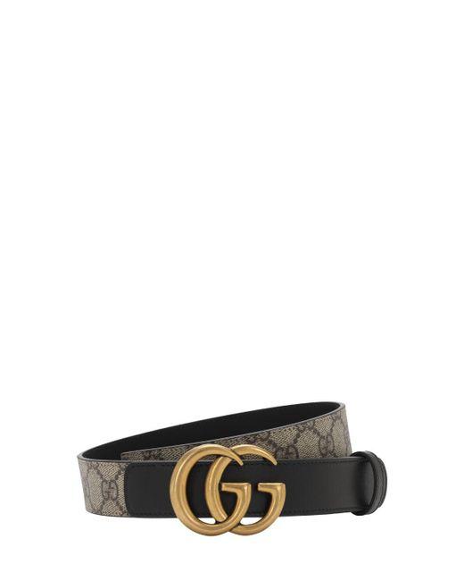 Ремень GG Marmont С Узором GG Supreme Gucci, цвет: Black