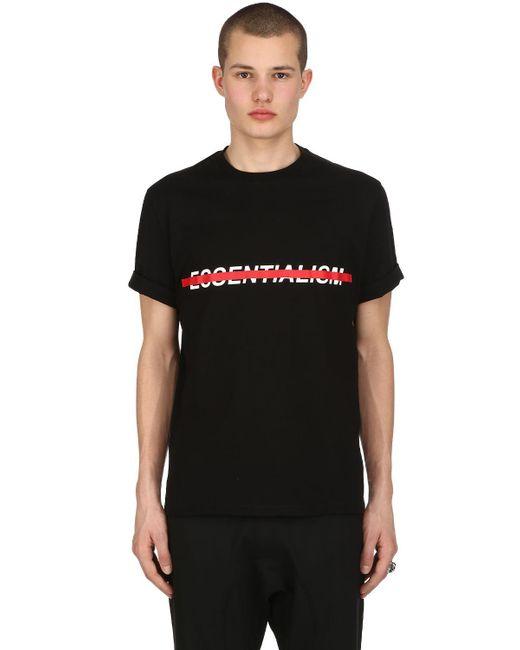Neil Barrett - Black Loose Fit Essentialism Jersey T-shirt for Men - Lyst