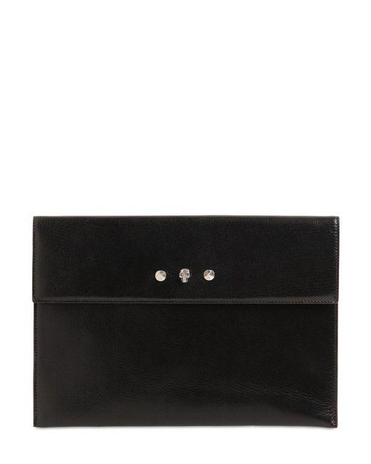 Alexander McQueen Envelope レザードキュメントケース Black