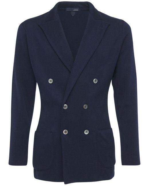 Куртка Из Трикотажного Хлопка Lardini для него, цвет: Blue