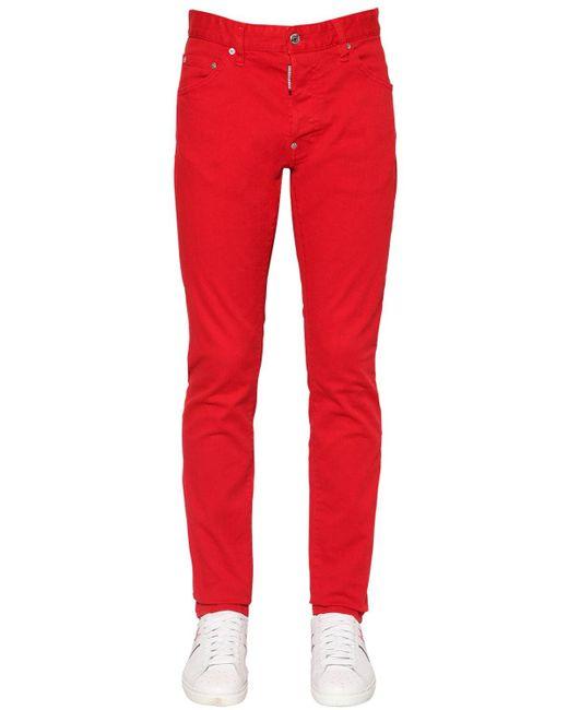 メンズ DSquared² Cool Guy ストレッチコットンジーンズ 16.5cm Red