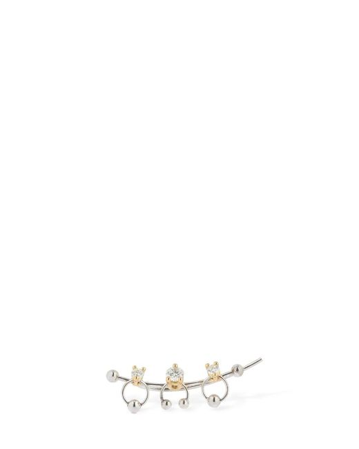 Delfina Delettrez 2-in-1 ダイヤモンド シングルイヤージャケット Metallic