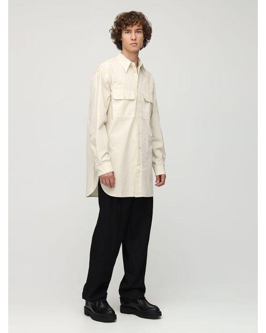 メンズ Lemaire オーバーサイズコットンミリタリーシャツ Natural