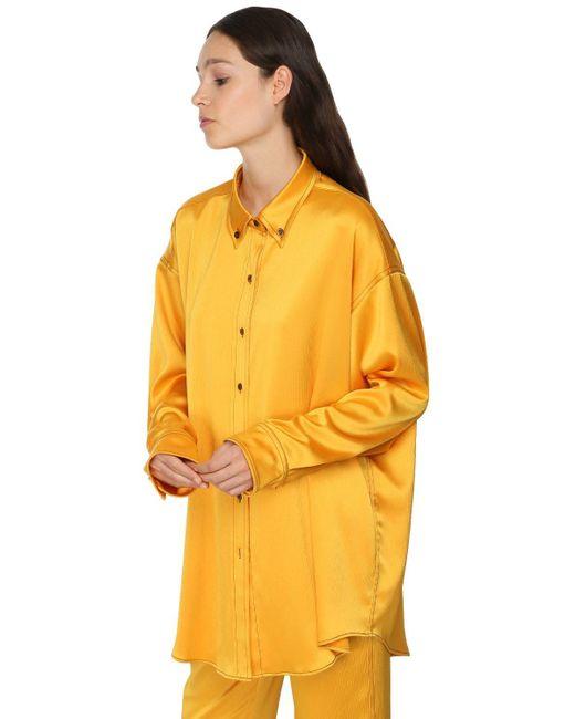 Sies Marjan オーバーサイズサテンシャツ Yellow