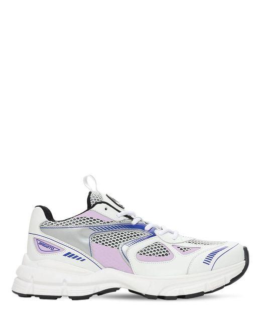 "Axel Arigato Blue 30mm Hohe Sneakers Aus Leder Und Mesh ""marathon"""