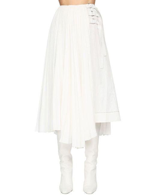 Proenza Schouler リネンブレンドスカート White