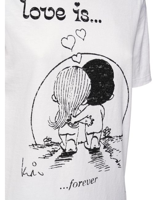 DSquared² Renny Fit Love Is ジャージーtシャツ White
