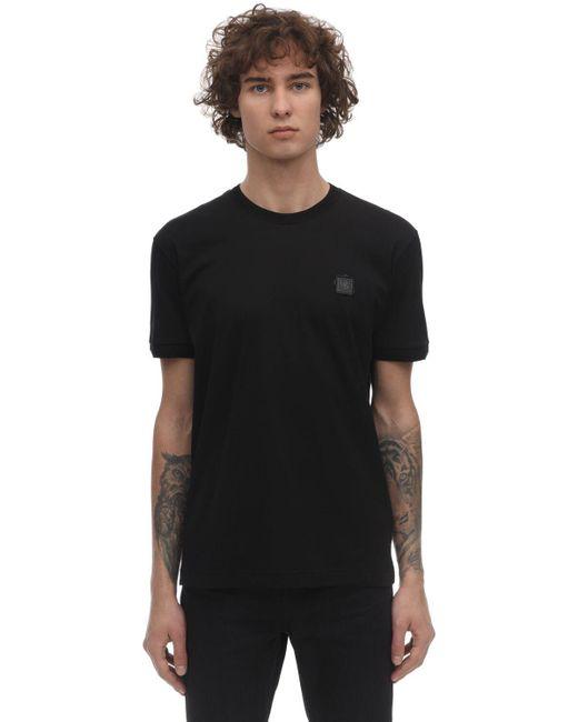 メンズ Dolce & Gabbana コットンジャージーtシャツ Black