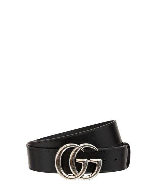 Gucci Gg Marmont レザーベルト 4cm Black