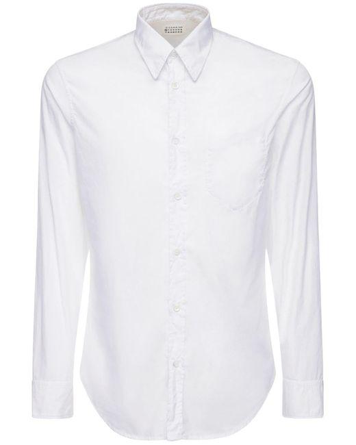メンズ Maison Margiela コットンポプリンシャツ White
