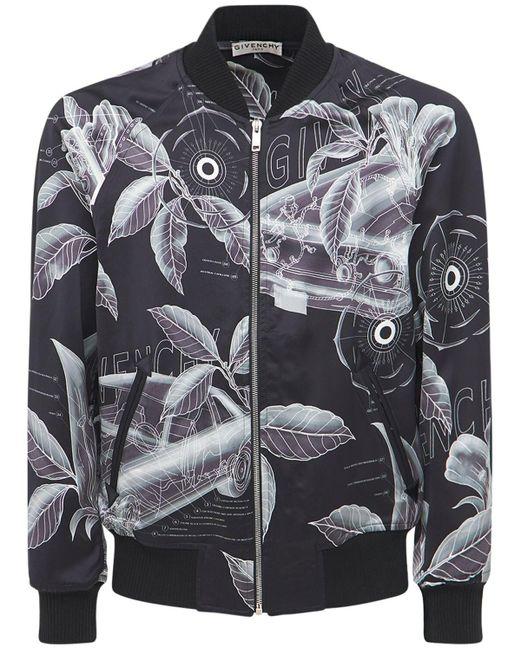 メンズ Givenchy Floral ジップボンバージャケット Gray