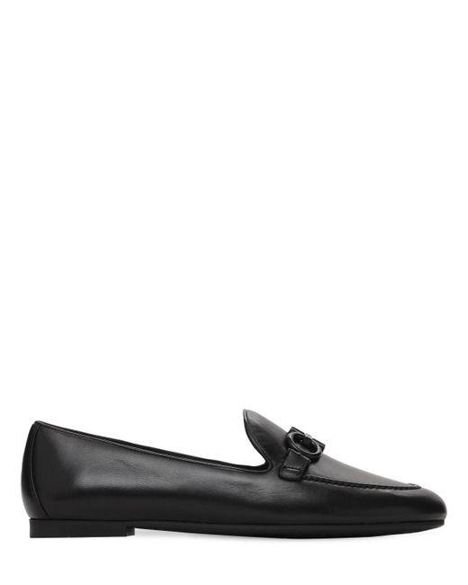 Кожаные Лоферы Trifoglio 10мм Ferragamo, цвет: Black