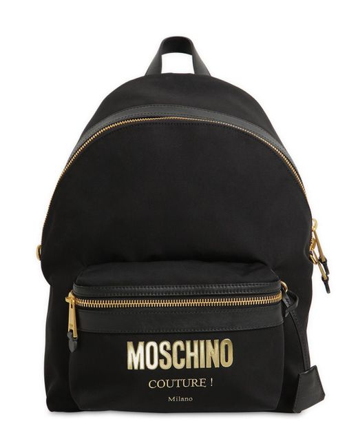 Moschino Couture ナイロンバックパック Black