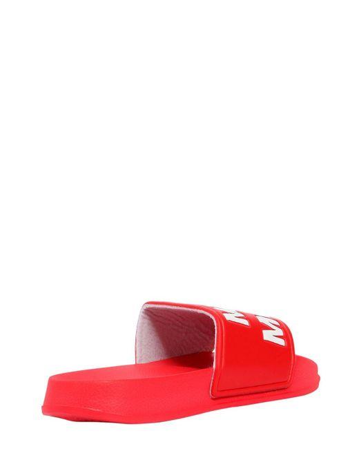 Sandalias Con Logo MAKE MONEY NOT FRIENDS de color Red