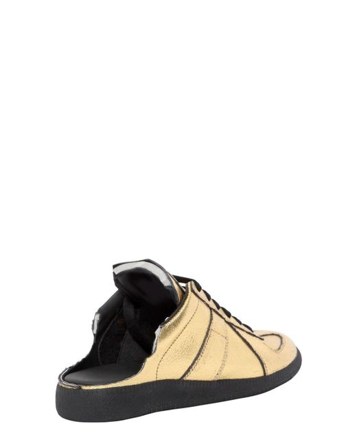 Free Shipping For Sale Maison Margiela 20MM METALLIC LEATHER MULE SNEAKERS Outlet Find Great Great Deals Cheap Online Collections Cheap Price Cu3vb36c