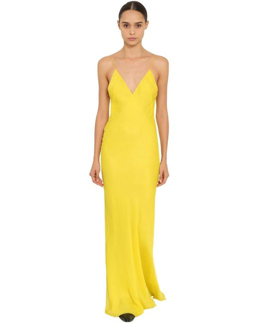 Haider Ackermann シルククレープ スリップドレス Yellow