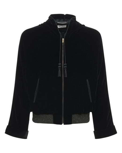 メンズ Saint Laurent ビスコース&キュプラテディジャケット Black