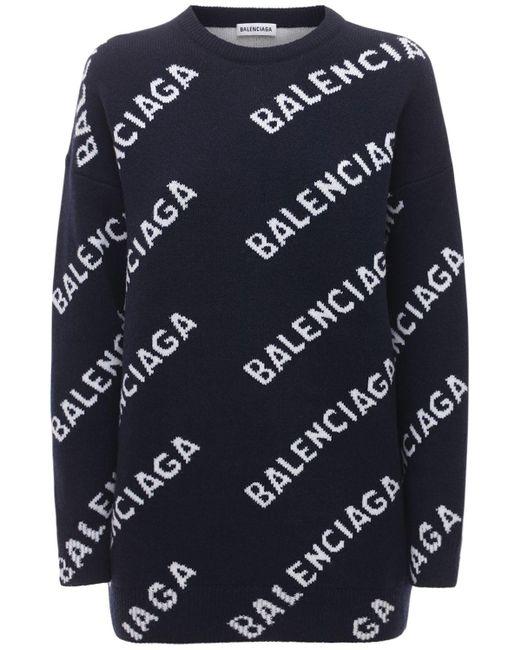 Balenciaga ウールニットセーター Blue