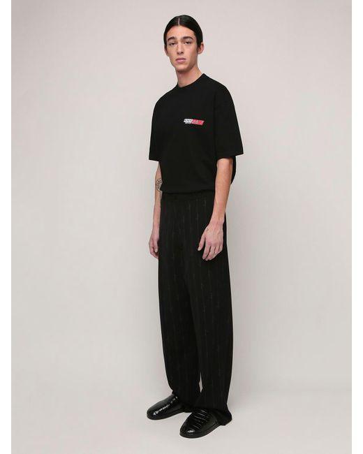 メンズ Balenciaga コットンジャージーtシャツ Black