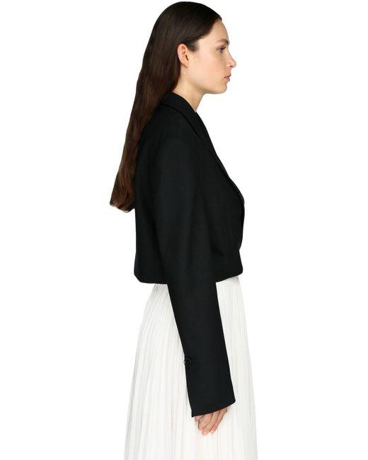 Giacca Cropped In Twill Di Lana di Proenza Schouler in Black