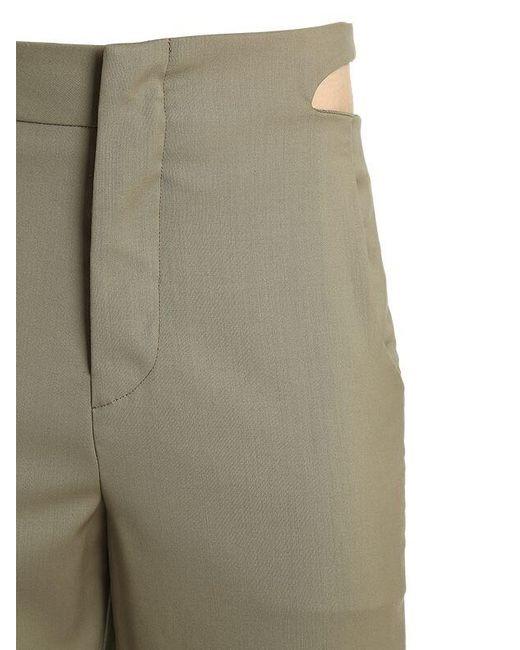 Pantalones De Gabardina De Lana Con Abertura Vejas de hombre de color Multicolor