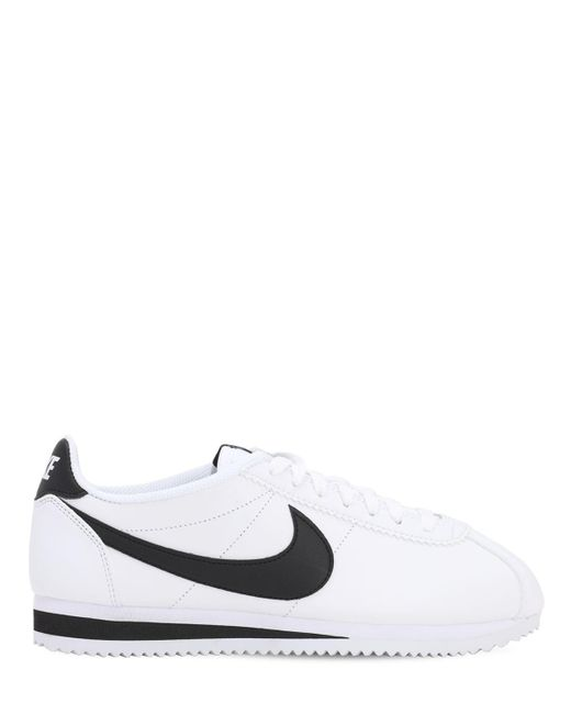 Nike White Classic Cortez Running Shoes