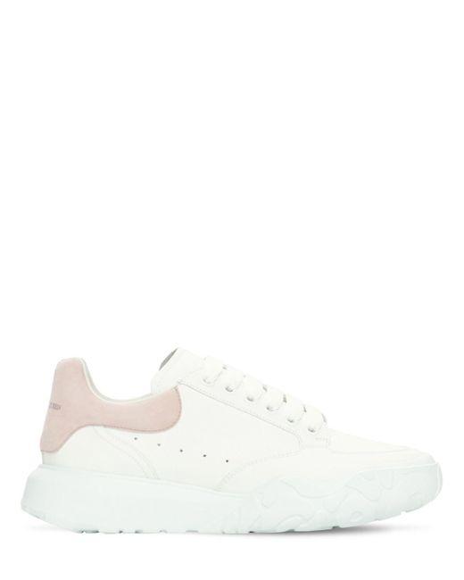 Кожаные Кроссовки Court 45mm Alexander McQueen, цвет: White