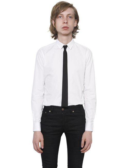 Saint Laurent | White Cotton Poplin Shirt for Men | Lyst