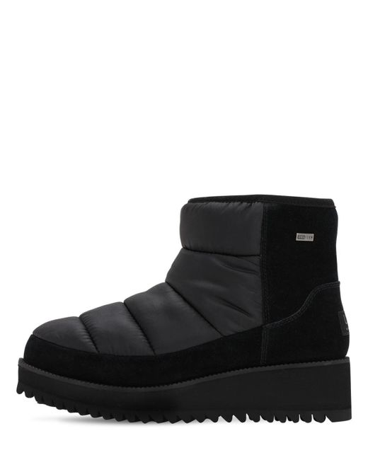 Ugg Black 50mm Suede & Nylon Moon Boots