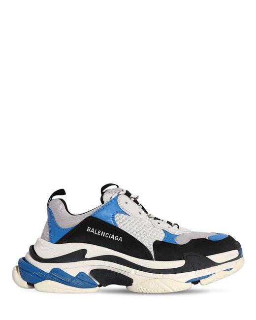 """Sneakers """"Triple S"""" Balenciaga pour homme en coloris Blue"""