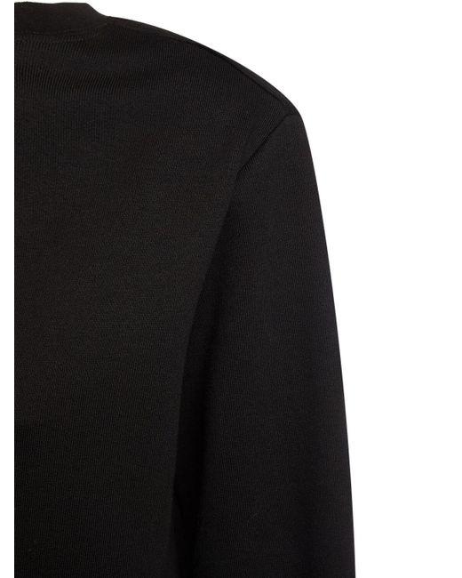 Толстовка Из Хлопка С Открытым Плечом MSGM, цвет: Black