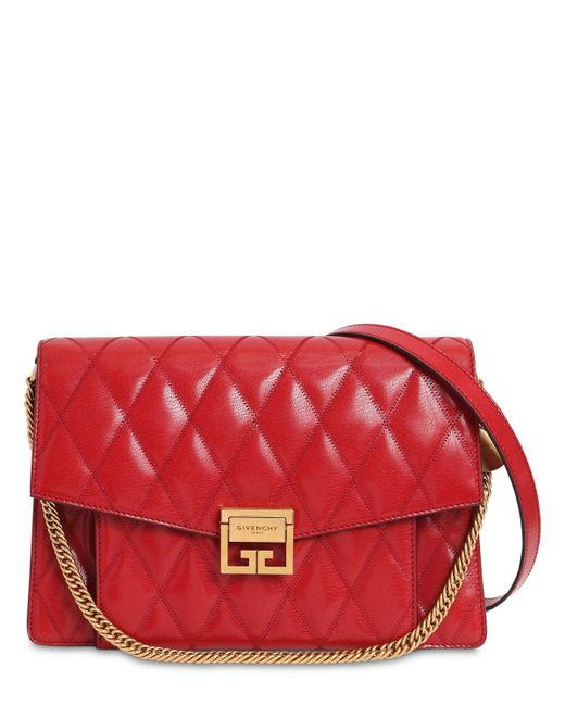 Givenchy G3 ミディアム キルトレザーバッグ Red