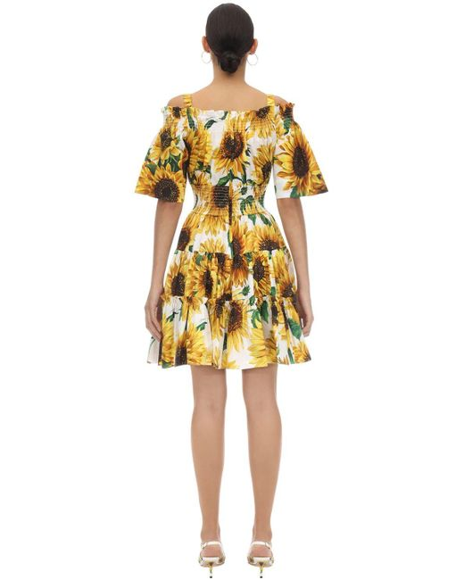 Dolce & Gabbana コットンポプリン ミニドレス Yellow