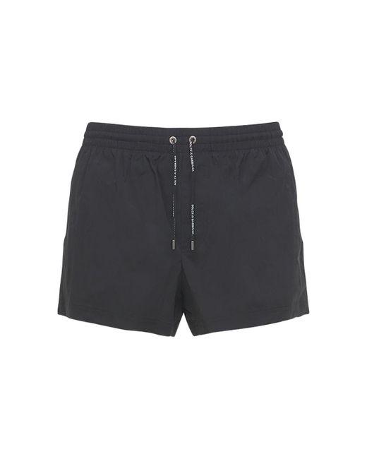 Плавательные Шорты Из Нейлона Dolce & Gabbana для него, цвет: Black