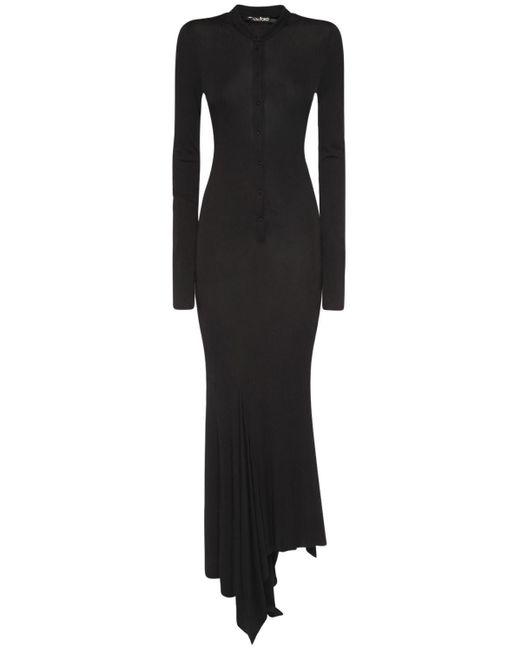 Tom Ford アシンメトリービスコースクレープドレス Black
