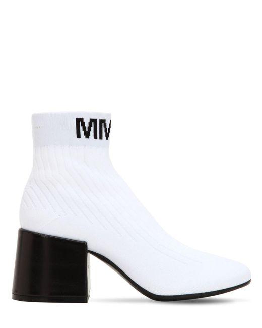 MM6 MAISON MARGIELA 65MM KNIT SOCKS ANKLE BOOTS xDz7sm9MY
