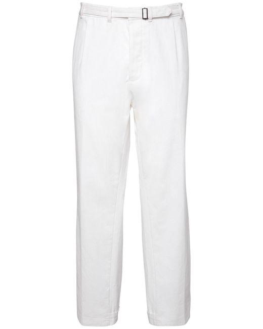 メンズ Haider Ackermann ルーズフィットコットンパンツ 20cm White