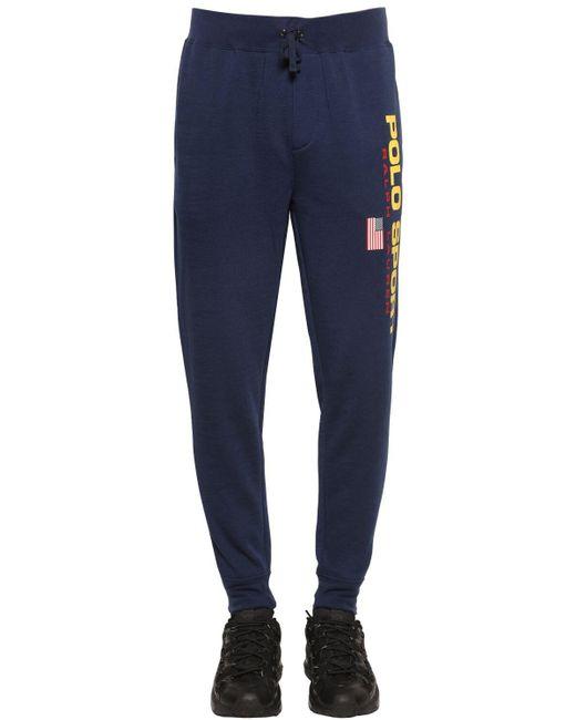 メンズ Polo Ralph Lauren ネオンロゴ パンツ Blue