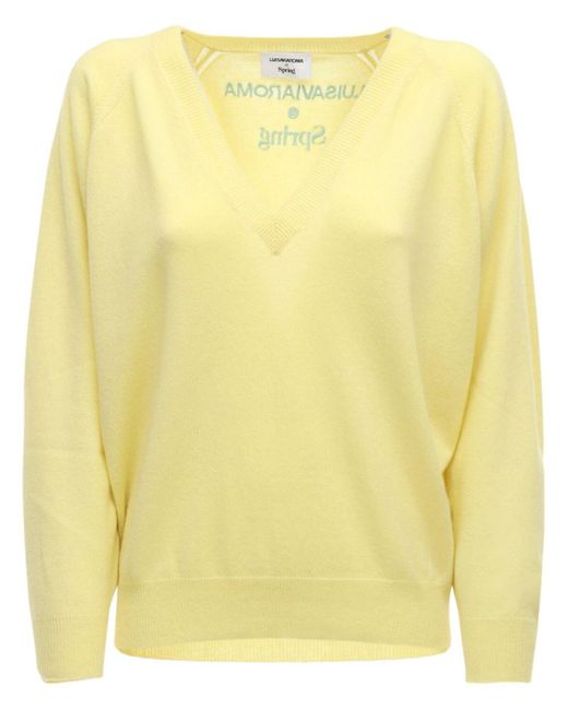 LUISAVIAROMA カシミアニットセーター Yellow